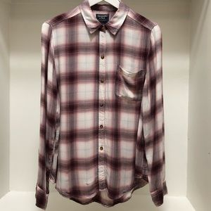 Abercrombie & Fitch Long Sleeve Plaid Shirt